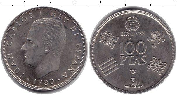 Картинка Монеты Испания 100 песет Медно-никель 1980