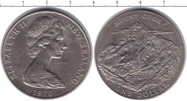 Картинка Монеты Новая Зеландия 1 доллар Медно-никель 1970