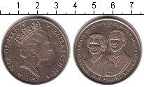 Изображение Монеты Остров Мэн 5 фунтов 1997  UNC 50-я годовщина свадь