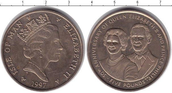 Картинка Монеты Остров Мэн 5 фунтов  1997