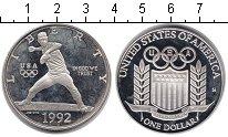 Изображение Монеты США 1 доллар 1992 Серебро Proof-