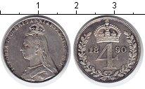 Изображение Монеты Великобритания 4 пенса 1890 Серебро XF Виктория