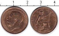 Изображение Монеты Великобритания 1 фартинг 1921  XF Георг V