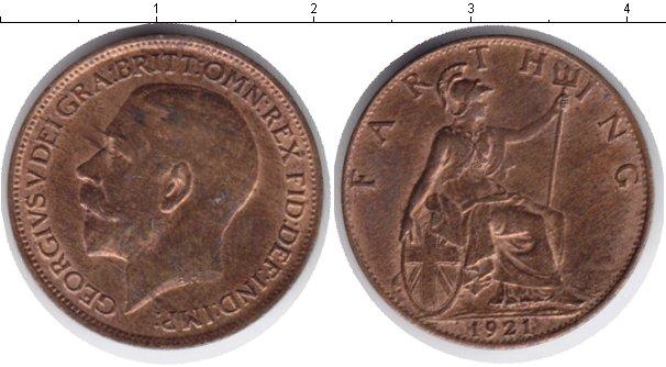 Картинка Монеты Великобритания 1 фартинг  1921