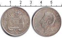 Изображение Монеты Эквадор 2 сукре 1944 Серебро XF Антонио Хосе Сукре