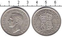 Изображение Монеты Великобритания 1/2 кроны 1946 Серебро UNC-