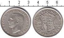 Изображение Монеты Великобритания 1/2 кроны 1946 Серебро UNC- Георг VI