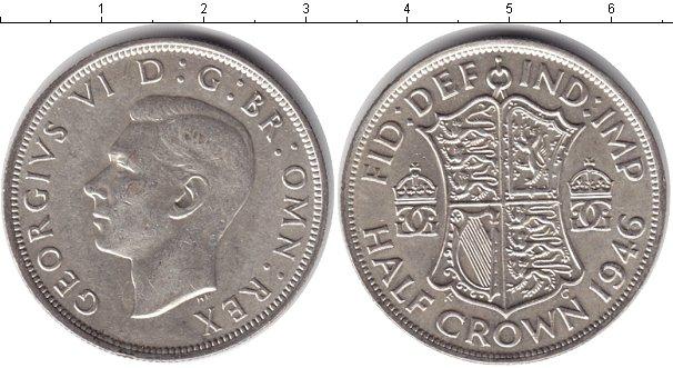 Картинка Монеты Великобритания 1/2 кроны Серебро 1946