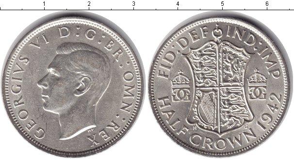 Картинка Монеты Великобритания 1/2 кроны Серебро 1942
