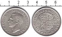 Изображение Монеты Великобритания 1/2 кроны 1942 Серебро UNC-