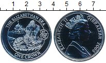 Изображение Монеты Гибралтар 1 крона 2008 Серебро UNC- Эра Елизаветы
