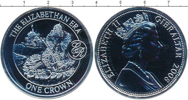 Картинка Монеты Гибралтар 1 крона Серебро 2008