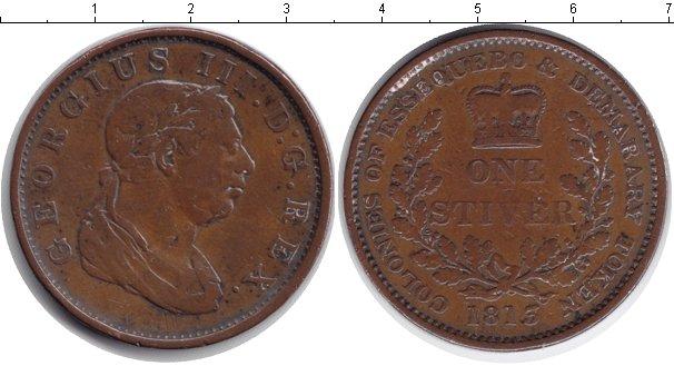 Картинка Монеты Эссекуибо и Демерара 1 стивер Медь 1813