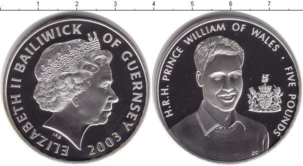 Картинка Монеты Гернси 5 фунтов Серебро 2003