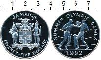 Изображение Монеты Ямайка 25 долларов 1992 Серебро Proof-