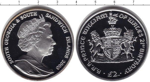 Картинка Монеты Сендвичевы острова 2 фунта Серебро 2003