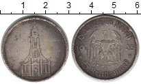 Изображение Монеты Третий Рейх 5 марок 1935 Серебро VF