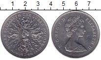 Изображение Мелочь Великобритания 25 пенсов 1980 Медно-никель UNC- Елизавета II. 80-лет
