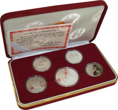 Изображение Подарочные монеты Южная Корея Олимпийские игры в Сеуле 1988  Proof