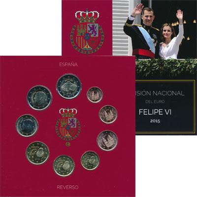 Изображение Подарочные монеты Испания Евро набор Филипп VI 2015  UNC