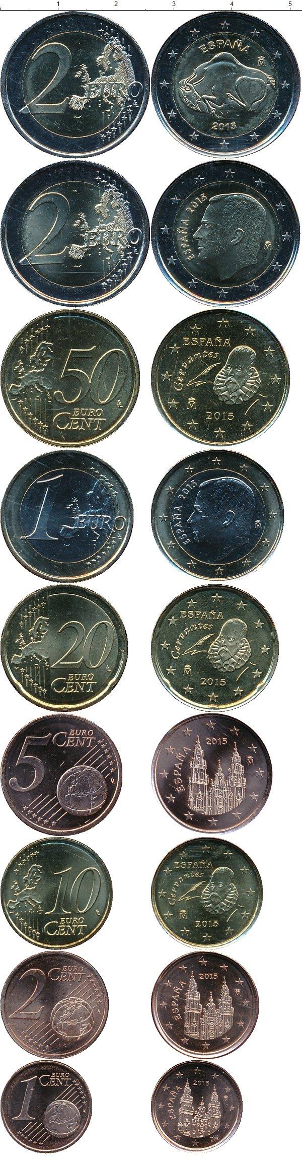 Картинка Подарочные монеты Испания Евро набор Филипп VI  2015