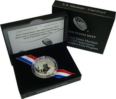 Изображение Подарочные наборы США 225-летие службы судебных приставов 2015 Медно-никель Proof Представляем Вашему