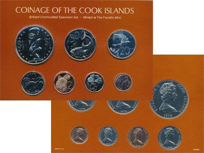 Изображение Подарочные монеты Острова Кука Регулярный выпуск 1975 1975   Выпуск монет 1975 го