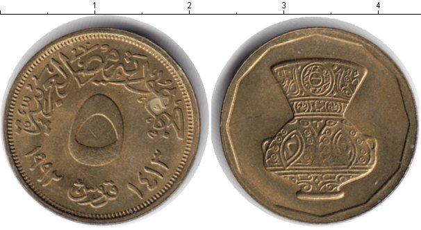 Картинка Монеты Египет 5 пиастров  1992