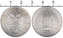 Изображение Мелочь Австрия 2 шиллинга 1937 Серебро UNC- 200-летие церкви Свя