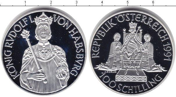 Картинка Монеты Австрия 100 шиллингов Серебро 1991
