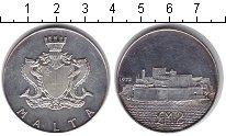 Изображение Монеты Мальта 2 фунта 1972 Серебро UNC- Форт Сан-Анджело