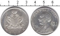 Изображение Монеты Мальта 1 фунт 1972 Серебро XF Мануэль Димех
