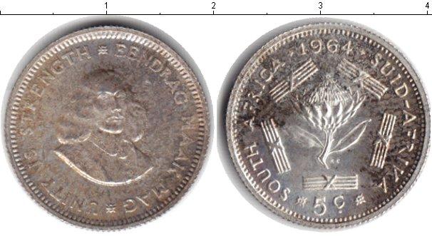 Картинка Монеты ЮАР 5 центов Серебро 1964