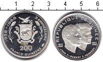 Изображение Монеты Гвинея 200 франков 1968 Серебро Proof- 10-летие независимос