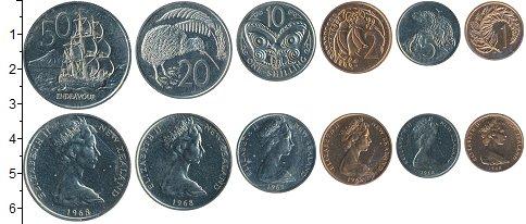 Изображение Наборы монет Новая Зеландия Новая Зеландия 1968 1968  UNC- В наборе 6 монет ном