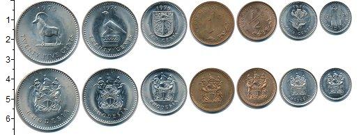 Изображение Наборы монет Родезия Родезия 1970-1976 0  XF+ В наборе 7 монет ном