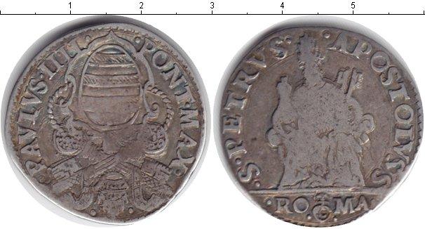Картинка Монеты Ватикан 1 тестон Серебро 1555