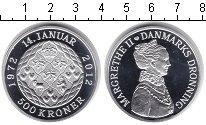 Изображение Монеты Дания 500 крон 2012 Серебро Proof 40-летие правления М