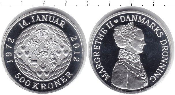 Картинка Монеты Дания 500 крон Серебро 2012