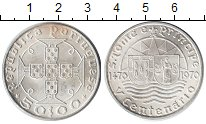 Изображение Монеты Португалия 50 эскудо 1970 Серебро XF 500 летие Сан Томе и