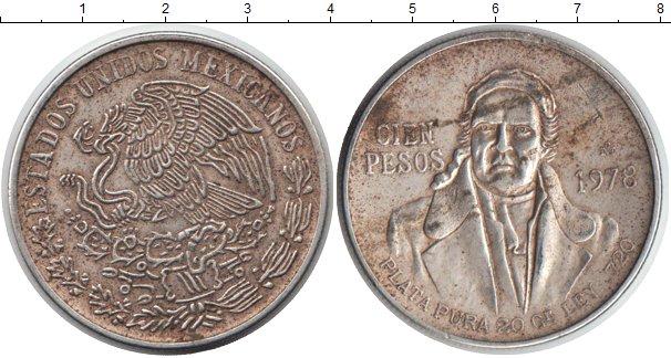 Картинка Монеты Мексика 5 песо Серебро 1978
