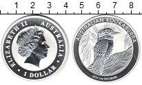 Изображение Монеты Австралия 1 доллар 2014 Серебро Proof- Австралийская кукабу