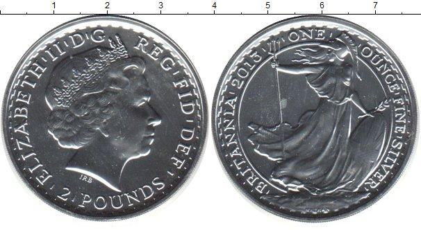 Картинка Монеты Великобритания 2 фунта Серебро 2013