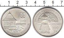 Изображение Монеты Словакия 200 крон 2002 Серебро UNC-