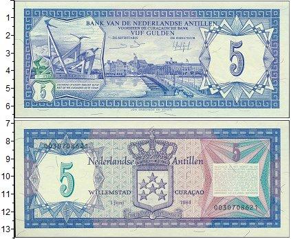 Картинка Боны Антильские острова 5 гульденов  1984