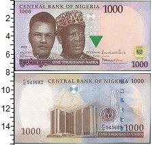 Банкнота Нигерия 1000 найр 2013 UNC- фото