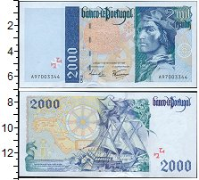Изображение Боны Португалия 2000 эскудо 0  UNC-