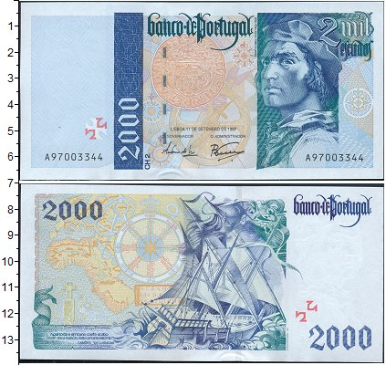 Картинка Боны Португалия 2.000 эскудо  0
