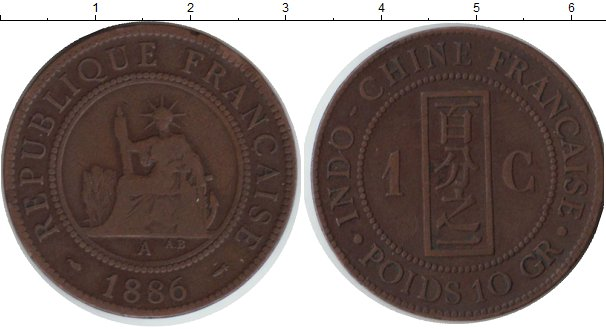 Картинка Монеты Индокитай 1 цент Медь 1886