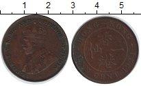 Изображение Монеты Гонконг 1 цент 1924 Медь VF Георг V